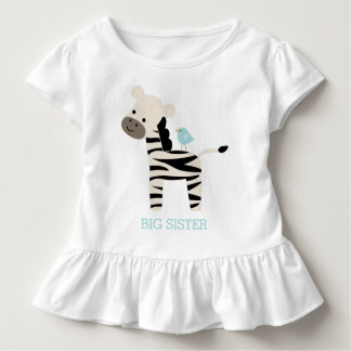 Cute Zebra and Bird Custom Message Toddler T-shirt