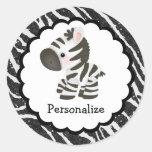 Cute Zebra and Glitter Animal Print Stickers