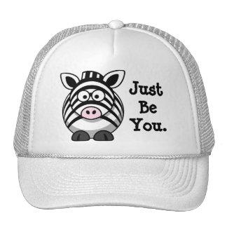 Cute Zebra Be Yourself Trucker Hat