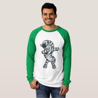 Cute Zebra Dabbing Long Sleeve Mens Dab Dance T-Shirt