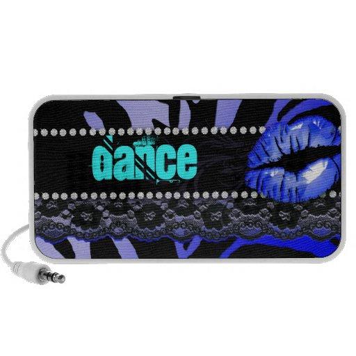 Cute Zebra Doodle Speaker Cover Lips 'n Lace Blue