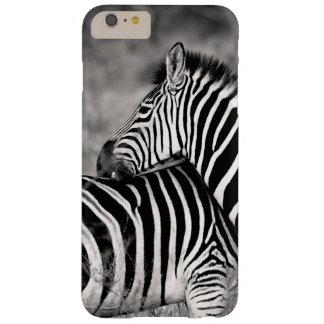 Cute Zebra Herd Nature Safari Black White Barely There iPhone 6 Plus Case