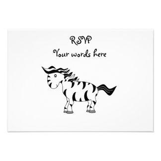 Cute zebra invitations
