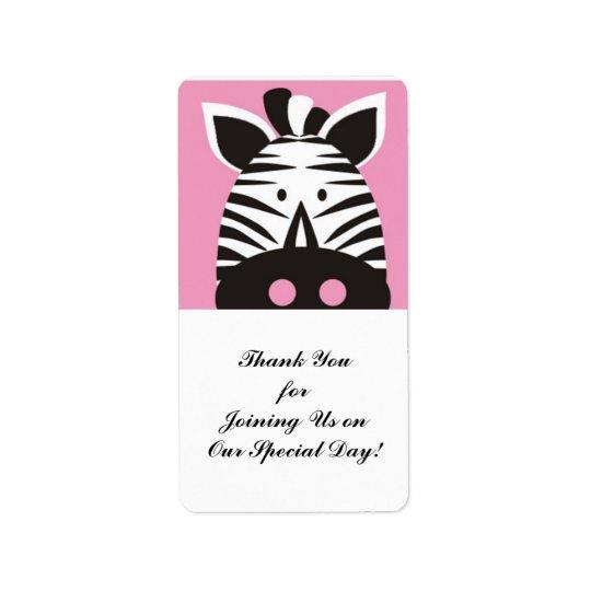 cute zebra on pink