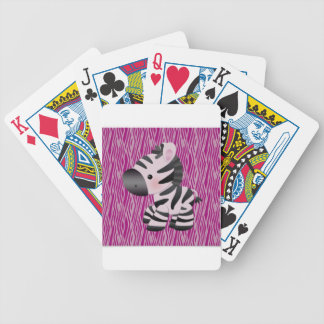 cute_zebra_pink_animal_print_ bicycle playing cards