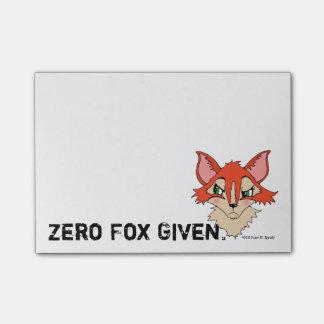 Cute Zero Fox Given Red Orange Fox Post-it Notes