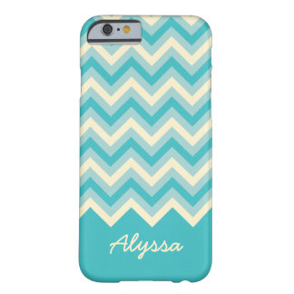 Cute ZigZag Pattern with Script Name Barely There iPhone 6 Case