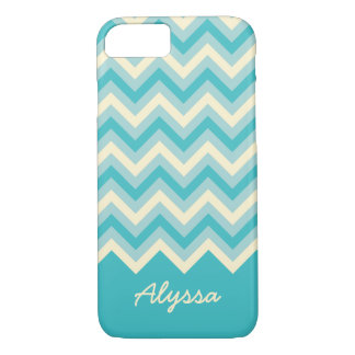 Cute ZigZag Pattern with Script Name iPhone 7 Case
