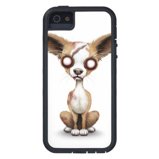 Cute Zombie Chihuahua Puppy Dog White iPhone 5 Case