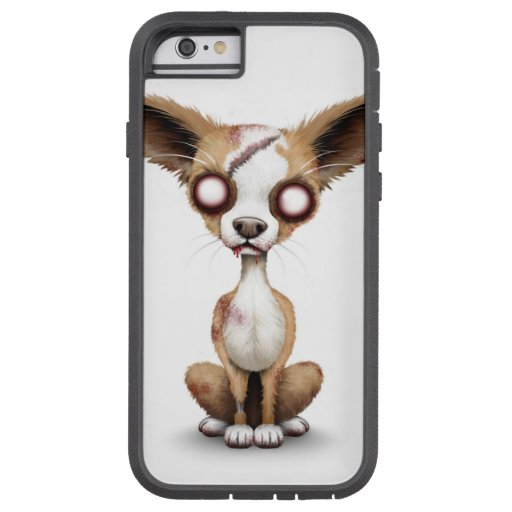 Cute Zombie Chihuahua Puppy Dog White iPhone 6 Case