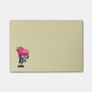 Cute Zombie Girl Illustration Post-it Notes