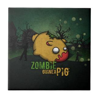 Cute Zombie Guinea Pig Ceramic Tile