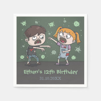 Cute Zombie Kids Halloween Birthday Party Supplies Disposable Napkin