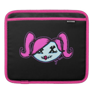 Cute Zombie (on dark background) iPad Sleeves
