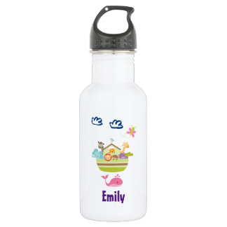 Cute Zoo Animal Ark Personalized 532 Ml Water Bottle
