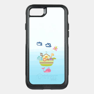 Cute Zoo Animal Ark with a Butterfly and Whale OtterBox Commuter iPhone 8/7 Case