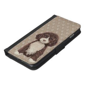 ©CuteLittlePuppy Labradoodle Dog Puppy Beige iPhone 6/6s Plus Wallet Case