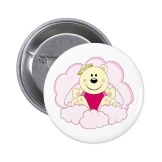 Cutelyn Baby Girl Angel Polar Bear On Clouds Pin