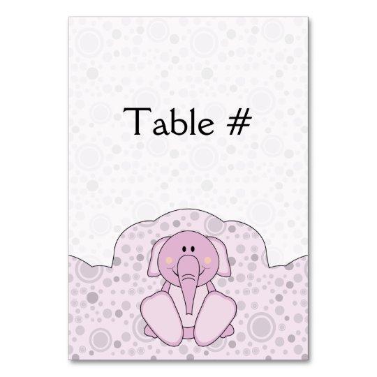 Cutelyn Baby Pink Elephant Card