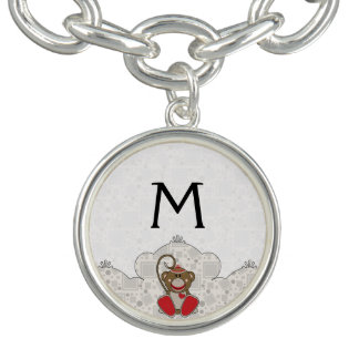 Cutelyn Sock Monkey Charm Bracelets