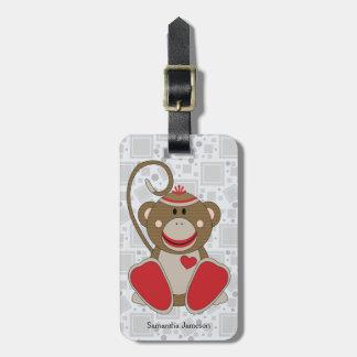 Cutelyn Sock Monkey Luggage Tag