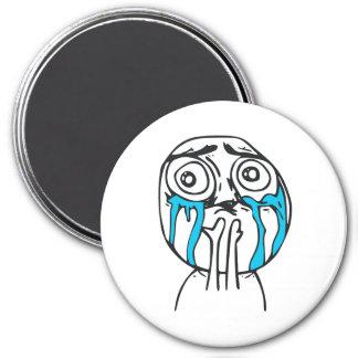 Cuteness Overload Cute Rage Face Meme 3 Inch Round Magnet