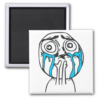 Cuteness Overload Cute Rage Face Meme Square Magnet