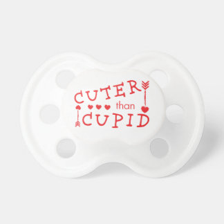 Cuter than Cupid Valentine's Day Pacifier