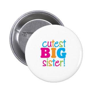 CUTEST BIG SISTER 2 INCH ROUND BUTTON