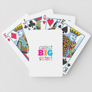 CUTEST BIG SISTER BICYCLE PLAYING CARDS