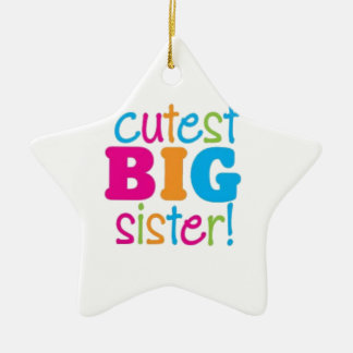 CUTEST BIG SISTER CERAMIC ORNAMENT