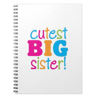 CUTEST BIG SISTER SPIRAL NOTE BOOKS