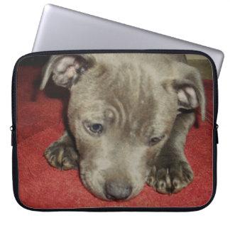 Cutest_Blue_Staffy_Puppy,_15_Inch_Laptop_Sleeve Laptop Computer Sleeve