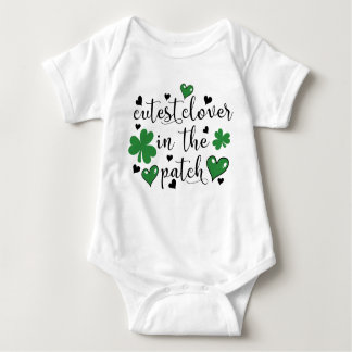 cutest clover in the patch baby bodysuit