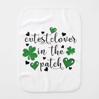 cutest clover in the patch burp cloth