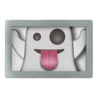 Cutest Ghost next to Casper! Rectangular Belt Buckles