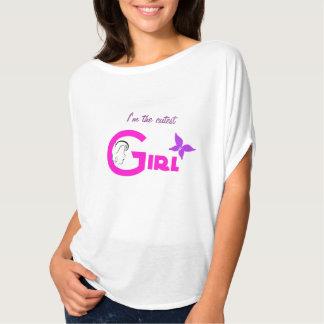 Cutest girl text pink candy heart monogram t-shirt