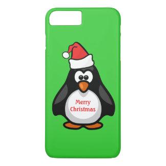 Cutest Hip Christmas Santa Claus Penguin Any Color iPhone 7 Plus Case