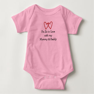 CUTEST INFANT 3-SNAP I LOVE MY MOMMY & DADDY SWEET BABY BODYSUIT