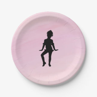 Cutest Little Dancer 7 Inch Paper Plate