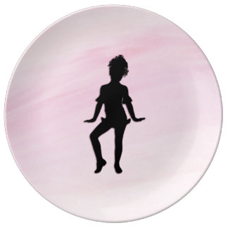 Cutest Little Dancer Porcelain Plates