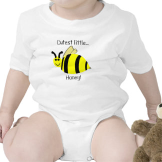Cutest Little Honey Yellow Bumble Bee Infant Shirt