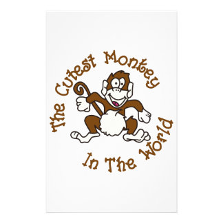 Cutest Monkey Personalized Stationery