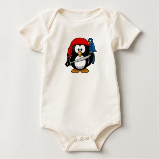 Cutest Penguin Pirate One-Piece Baby Bodysuit