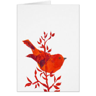 Cutest Red Bird on the planet Card