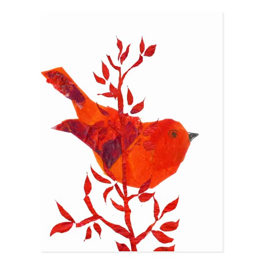 Cutest Red Bird on the planet Postcard