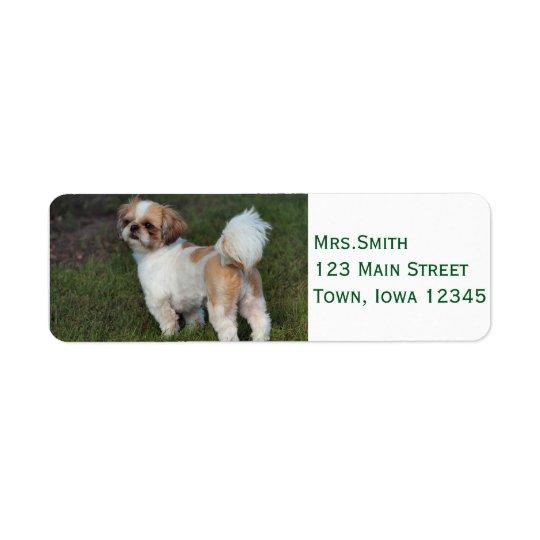 Cutest  Shih Tzu Return Address Label