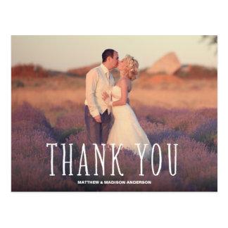 CUTEST THANKS WEDDING THANK YOU POST CARD