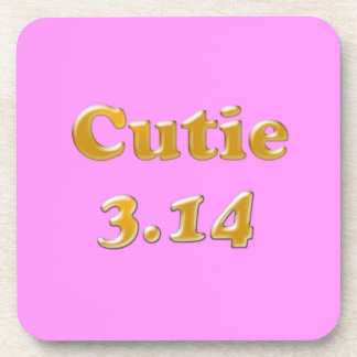 Cutie 3.14 Pi Day Pink Coaster