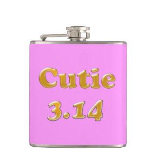 Cutie 3.14 Pi Day Pink Hip Flask